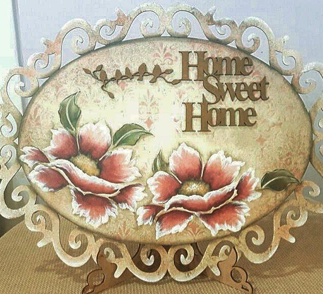 Mais uma ideia de Home Sweet Home by profa Elianehellip